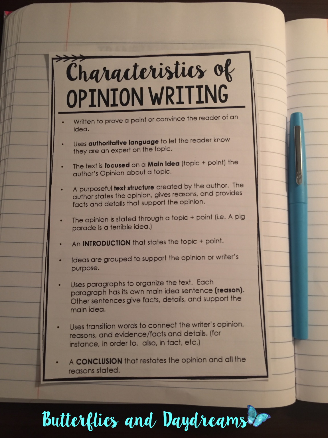 teaching opinion writing Know how to write an editorial your students have opinions about everything, so why not teach your class to put their views persuasively on paper let's write an editorial using three easy lessons.