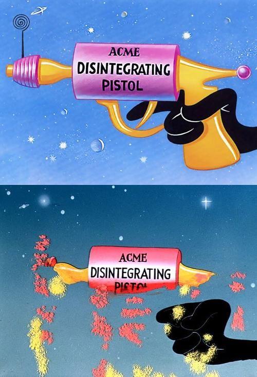 Acme Disintegrating Pistol Daffy Ducks Gun Gag From A 1953