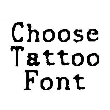 Typewriter Tattoo Font Generator Pinterest Font Generator