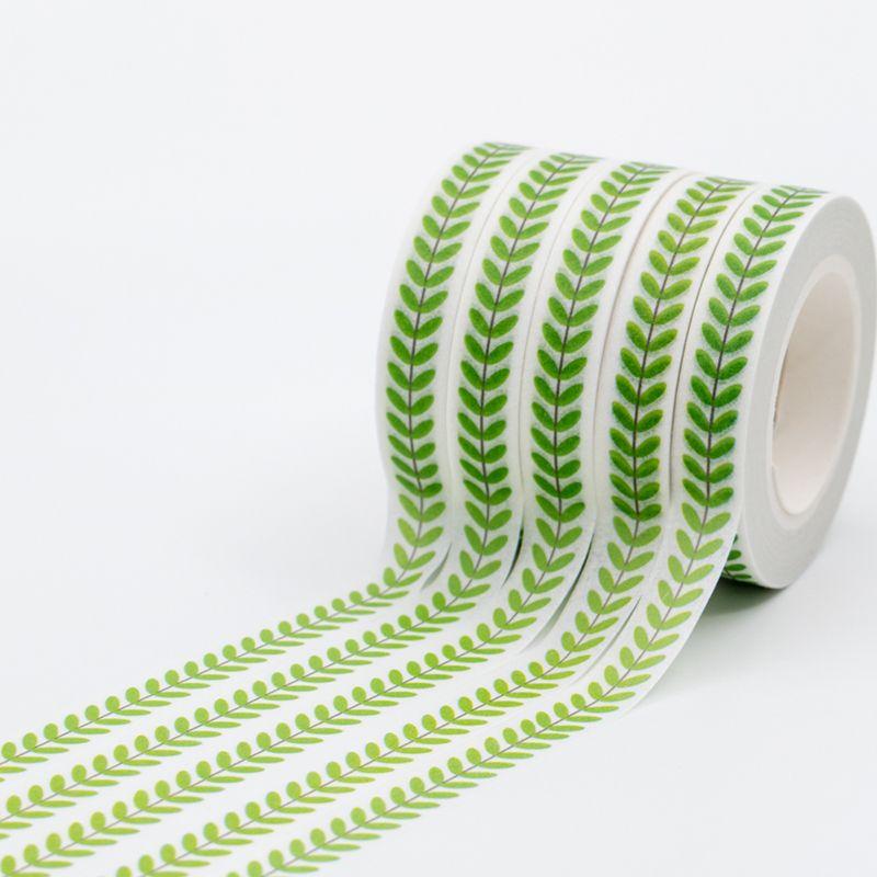 Scotch Decorative Masking Tape Green Japanese Washi Tapes Set Leaf Pattern Decorative Adhesive