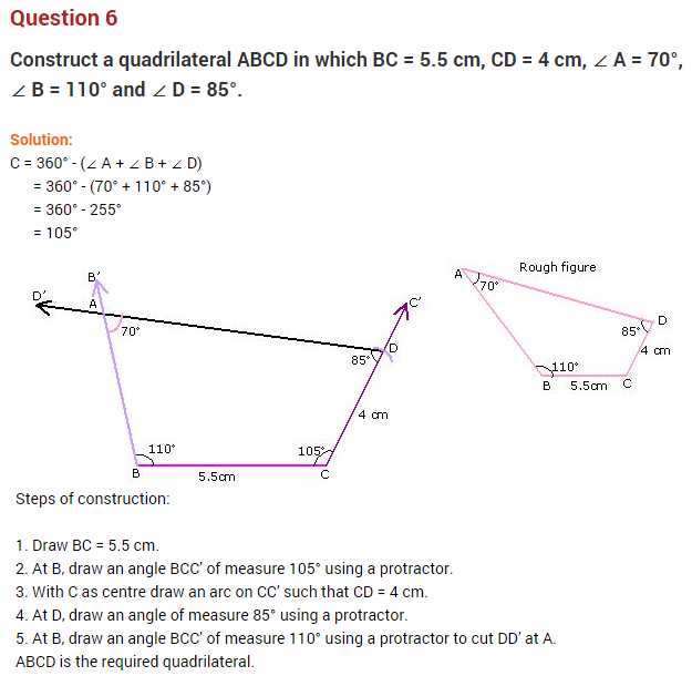 practicalgeometryncertextraquestionsforclass8mathschapter – Geometry Construction Worksheets