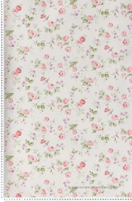 Liberty rose et violet - Papier peint Lutèce … | Your Pinterest ...
