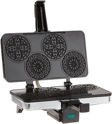 NEW CucinaPro 220 03 Piccolo Pizzelle Baker Waffle Sandwich Toaster Maker Grill >>> Click image to review more details.