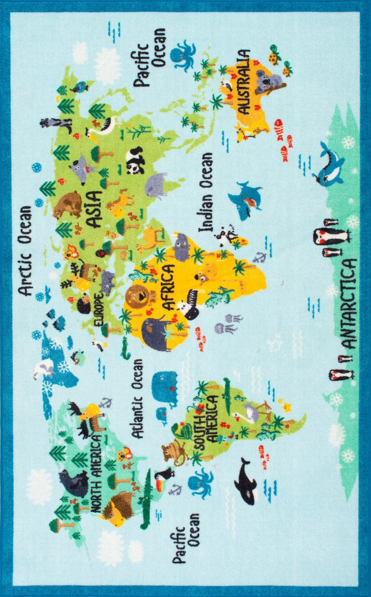 Animal world map environmental science and activities animal world map gumiabroncs Image collections