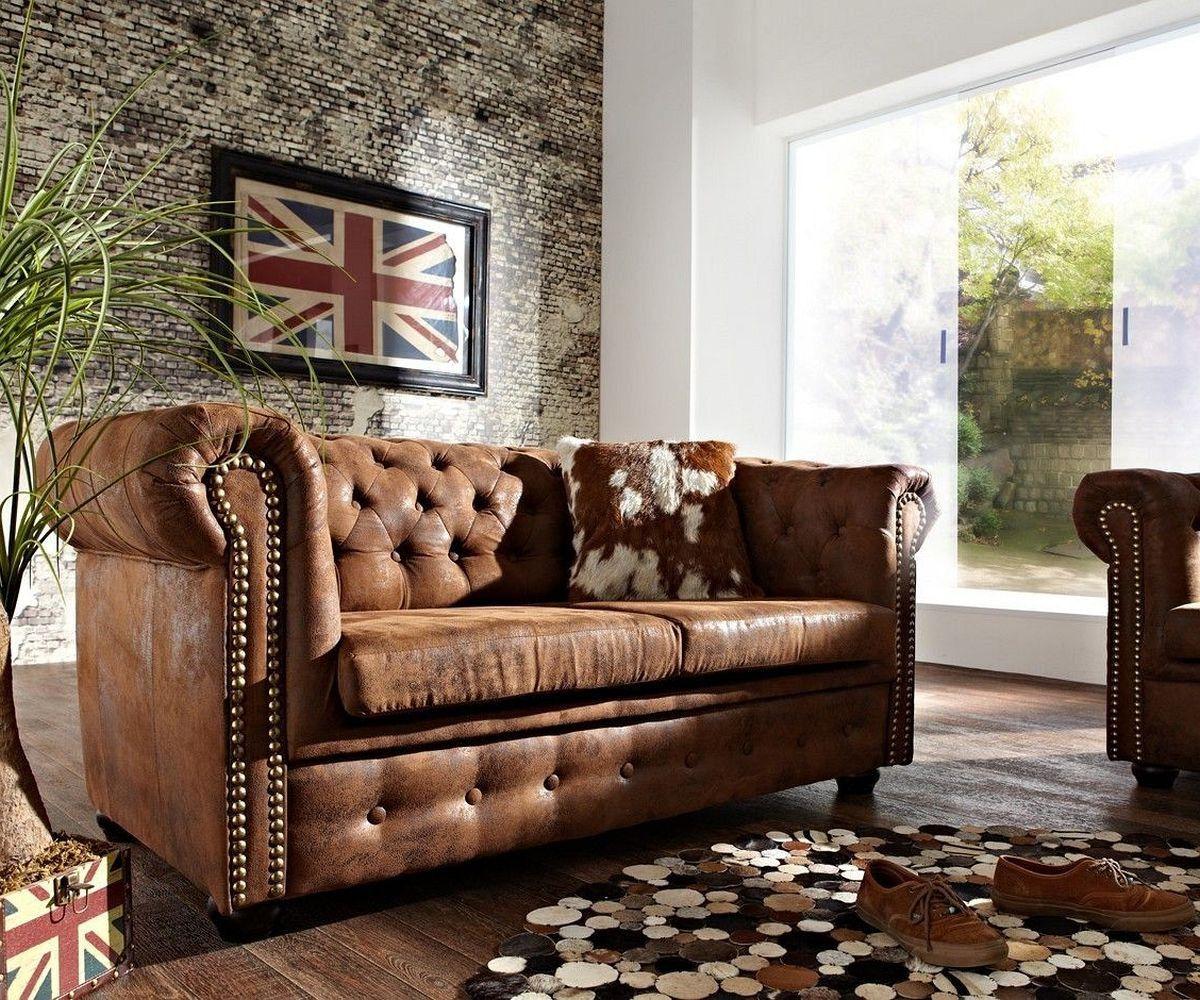 Sofa Chesterfield 160x88 Braun Wildlederoptik 2sitzer Gunstige Sofas Sofa Gunstig Kaufen Sofa Billig