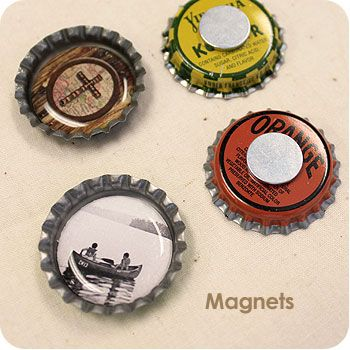 Bottle Cap Magnet Sets would make a great summer camp craft! http://www.bottlecapco.com/Summer-Camp-and-VBS-Crafts_ep_64-1.html