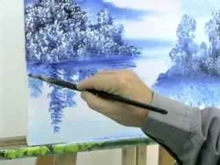 Comment peindre les reflets dans l 39 eau peindre la mer en 2019 peinture peindre et - Dessiner un paysage d hiver ...