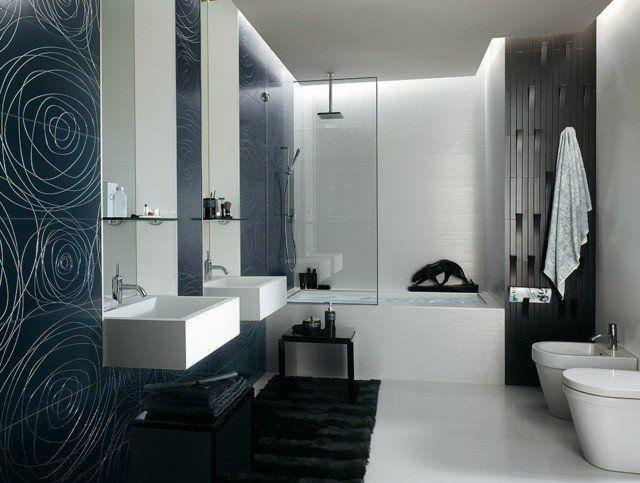 carrelage de salle de bains original ? 90 photos inspirantes - Carrelage Salle De Bain Bleu