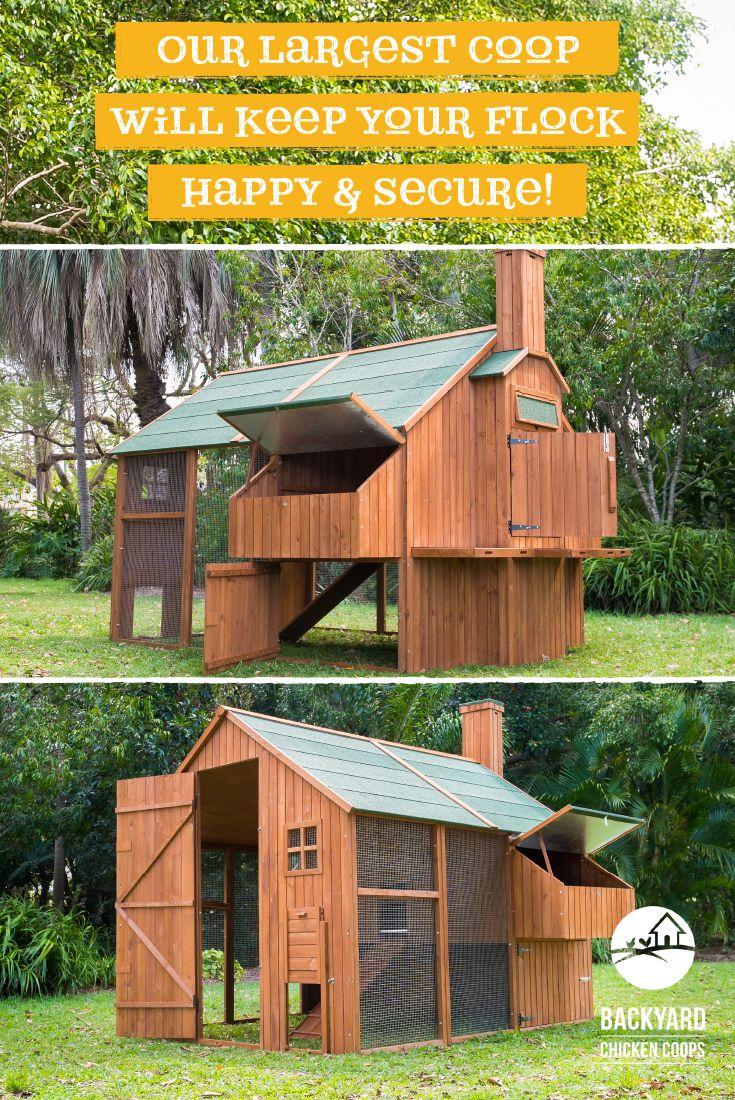 The Mansion™ Coop $1849 | Walk in chicken coop, Chickens ...