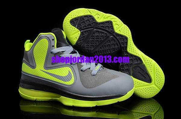 finest selection ebc68 8e80b Nike Lebron 9 Kids Shoes Grey Green Kids Basketball Shoes