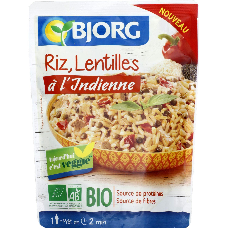 Plat Cuisine Riz Lentilles A L Indienne Bio Bjorg Le Sachet De