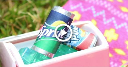 DIY American Girl Doll Soda Cans