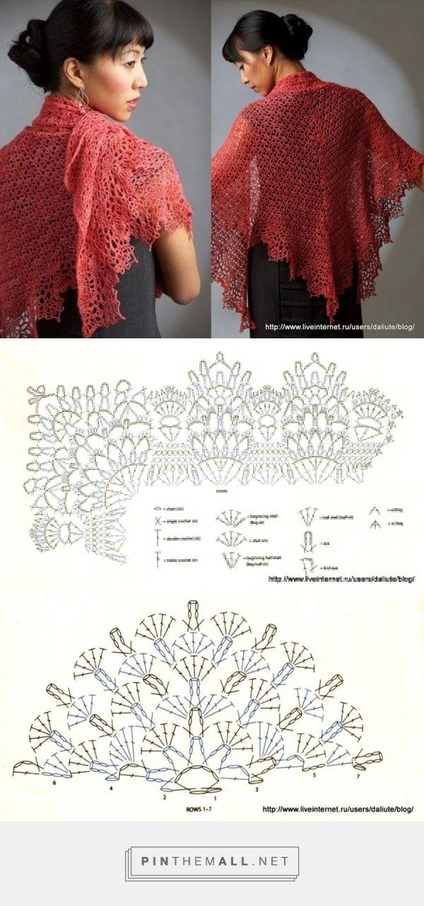 Pin de Marta Fandrey en Knitted and Crochet | Pinterest | Chal ...
