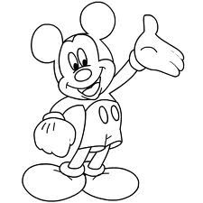 mickey mouse colouring pages  google search  printable coloring for kids  pinterest  mickey