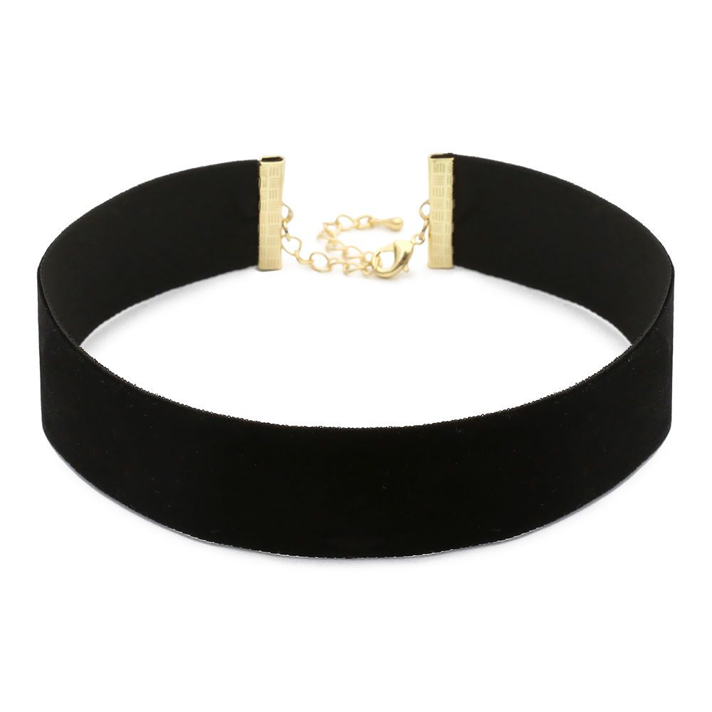 Pearl Crown Pendant Velvet Gothic Choker Necklace Made in Korea #WannaBeStones #Choker
