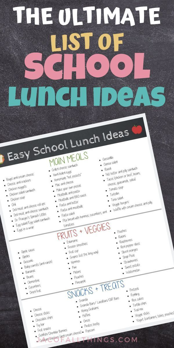 Easy Lunch Ideas (Food Kids Will Actually Eat!) (Free Printable) images