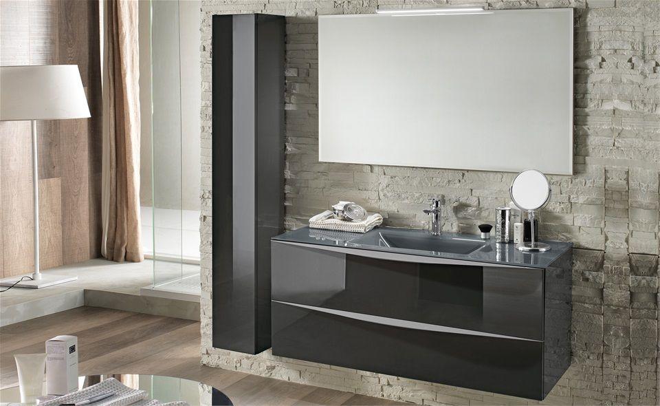 Bagno dal design contemporaneo con mobile sotto lavello sospeso. Moderno Onda Mondo Convenienza Arredamento Bagno Bagno Mobili Per Il Lavabo Del Bagno