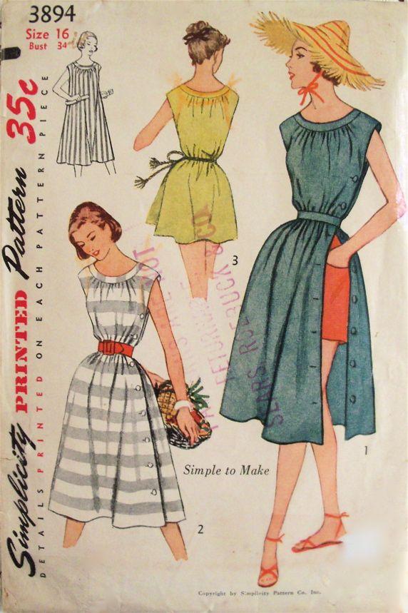 Simplicity 3894 - Vintage Sewing Patterns