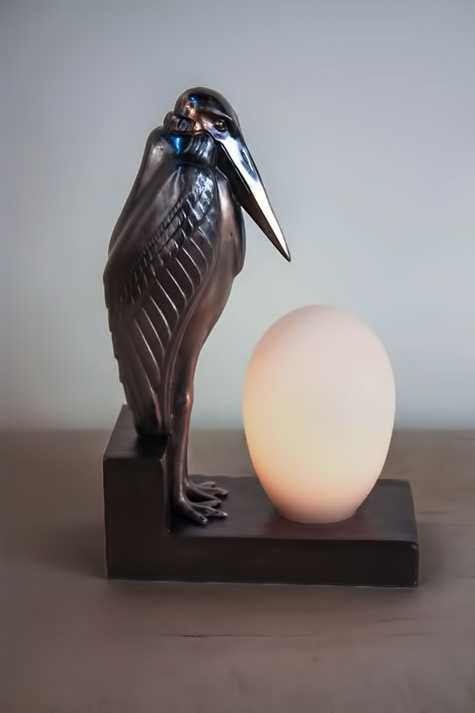 Art Deco Pelican Lamp