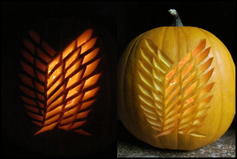attackontitan halloween pumpkin get the free stencil here