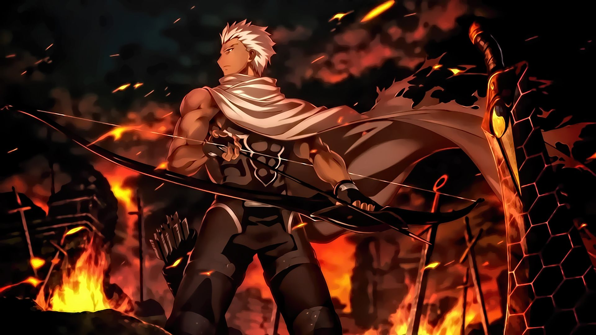 Archer Fate Stay Night Unlimited Blade Works By Sanoboss On
