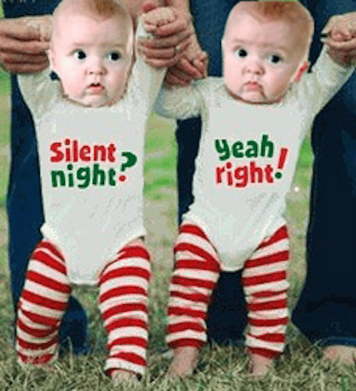 Outfit Your Twins in These Adorable Christmas Outfits: Twin-Themed Onesies - Outfit Your Twins In These Adorable Christmas Outfits Elephants