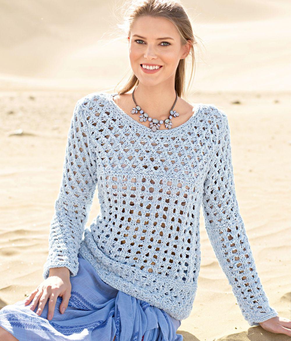 свитер вязаный крючком фото и схема кстати, просто