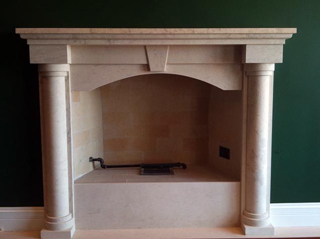 Colonial Arch Marble Fireplace | Georgian Marble Fireplace Mantels ...