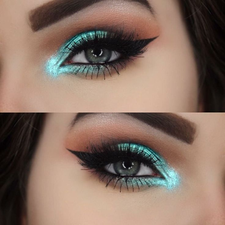 Turquoise Eye Makeup Eyemakeup Looks Honey In 2018 Pinterest