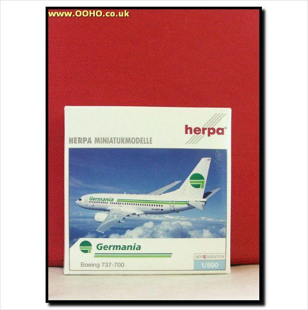 Herpa Wings 505796 - 1/500 - Germania Airlines Boeing 737-700 on eBid United Kingdom