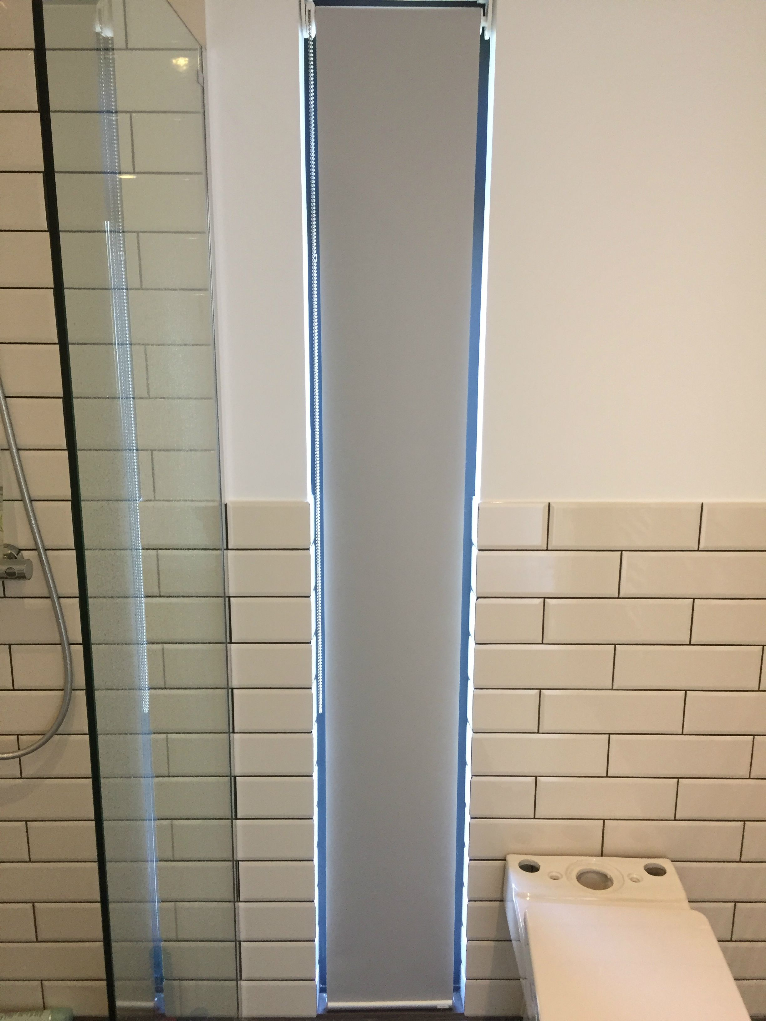 Waterproof Roller Blind Installed Reverse Roll For Ensuite - Waterproof roller blind for bathroom for bathroom decor ideas