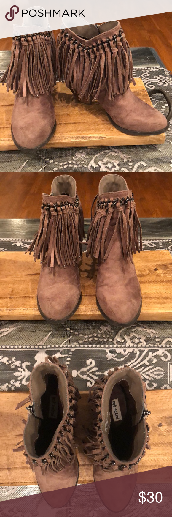 Not Rated Fringe Boot Fringe Boots Boots Not Rated Shoes