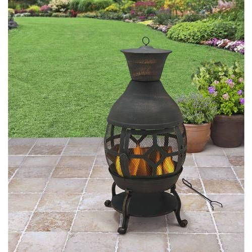 Chiminea Patio Heater Cast Iron Wood Burner Outdoor Barbecuing Heating Bbq Cover Chimineapatioheater