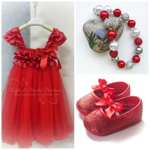 Chic Country Red Holiday Dress