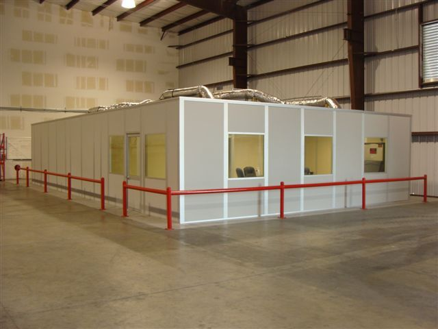 Porta-King modular in-plant office inside a manufacturing