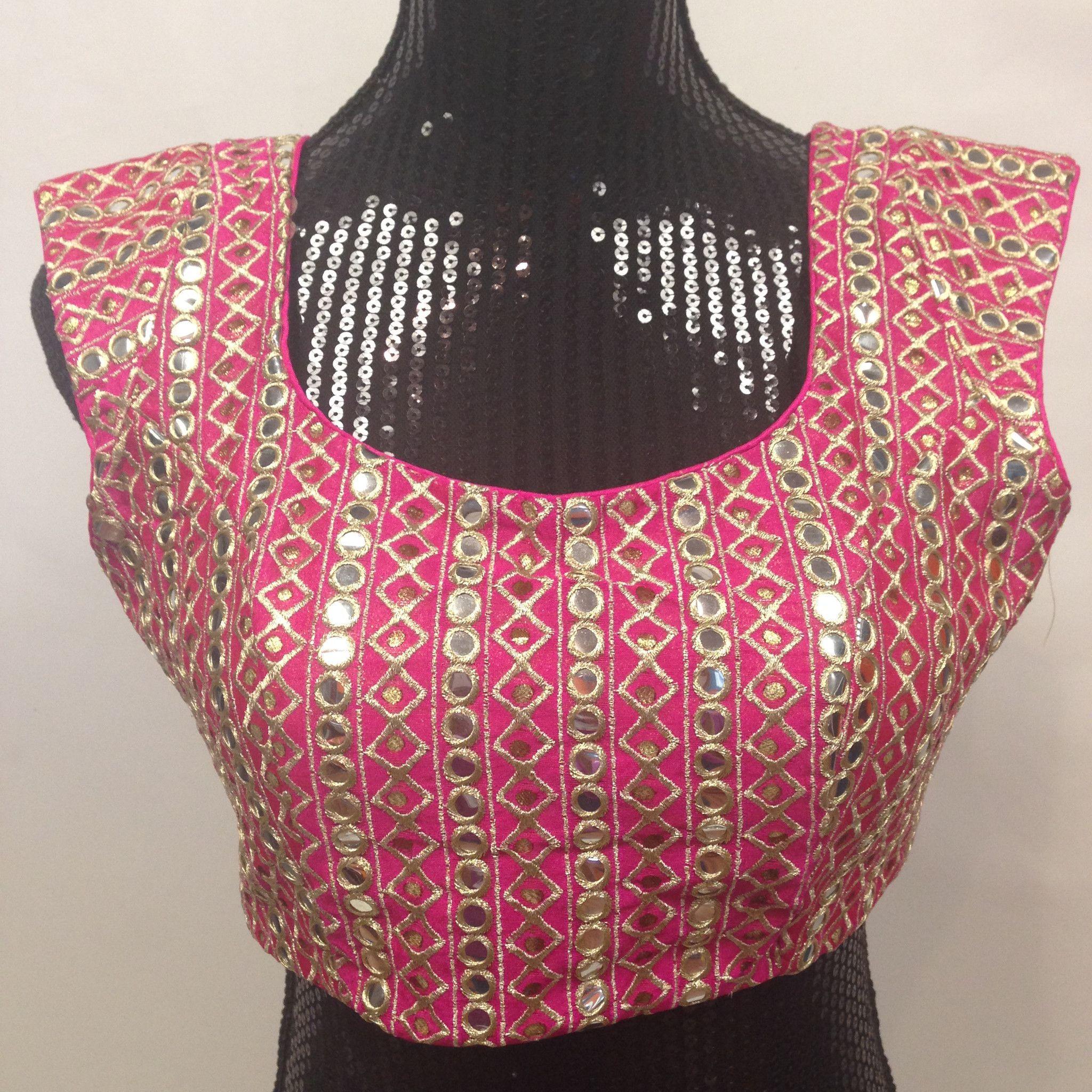 Designer Mirror Work Blouse - Pink | mirror work | Pinterest ...