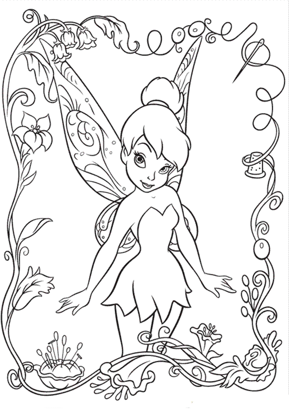 Colorear campanilla | ANA | Pinterest | Colorear, Dibujo y Dibujos ...