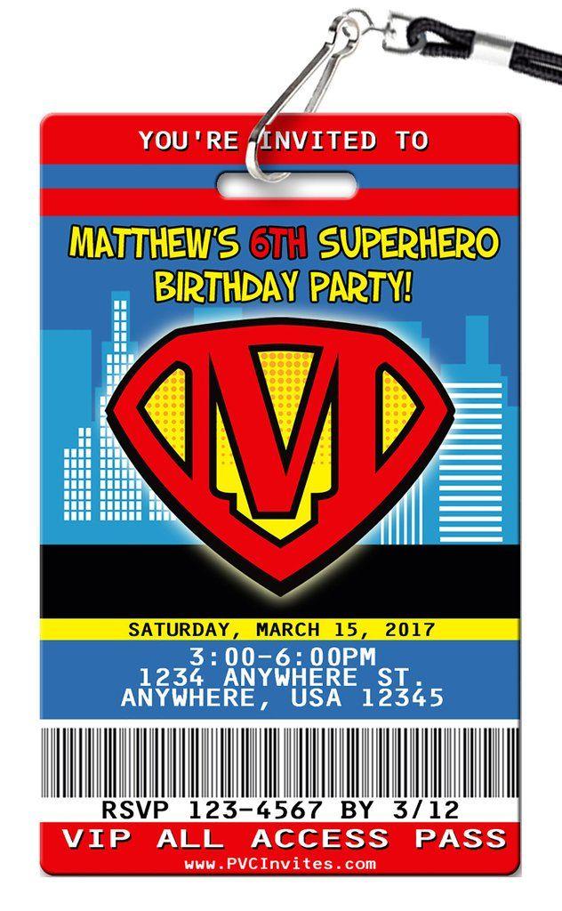 Superman Birthday Invitation   Superman birthday and Birthdays