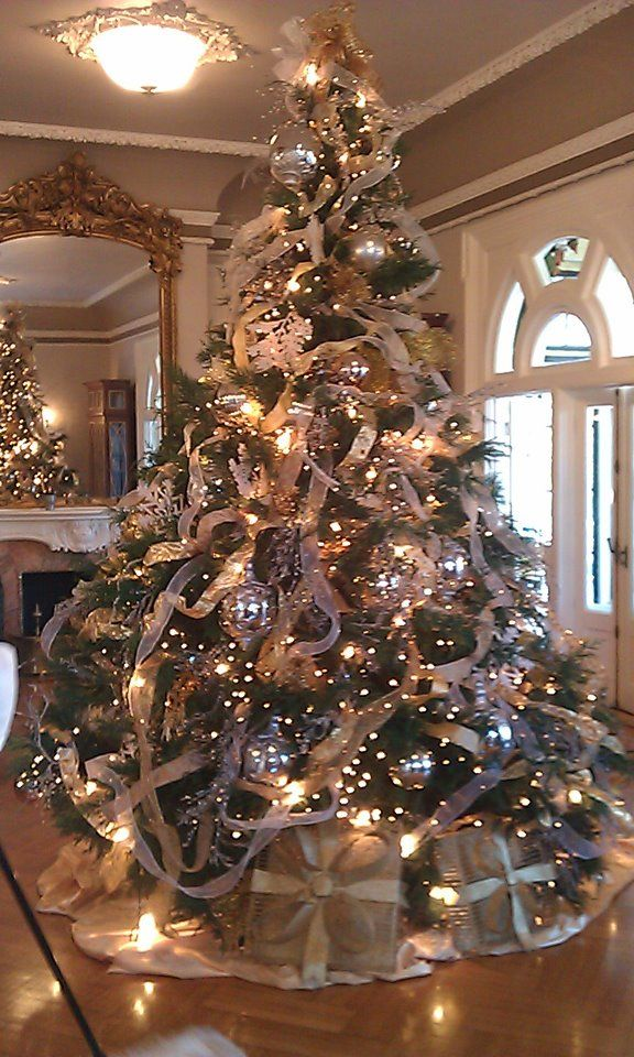 the alabama governors mansion christmas tree 2011 silver and gold decoration noel christmas tree decorations - Mansion Christmas Decorations