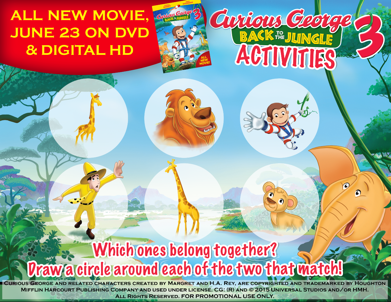 Krafty kidz center curious george coloring pages - Curious George