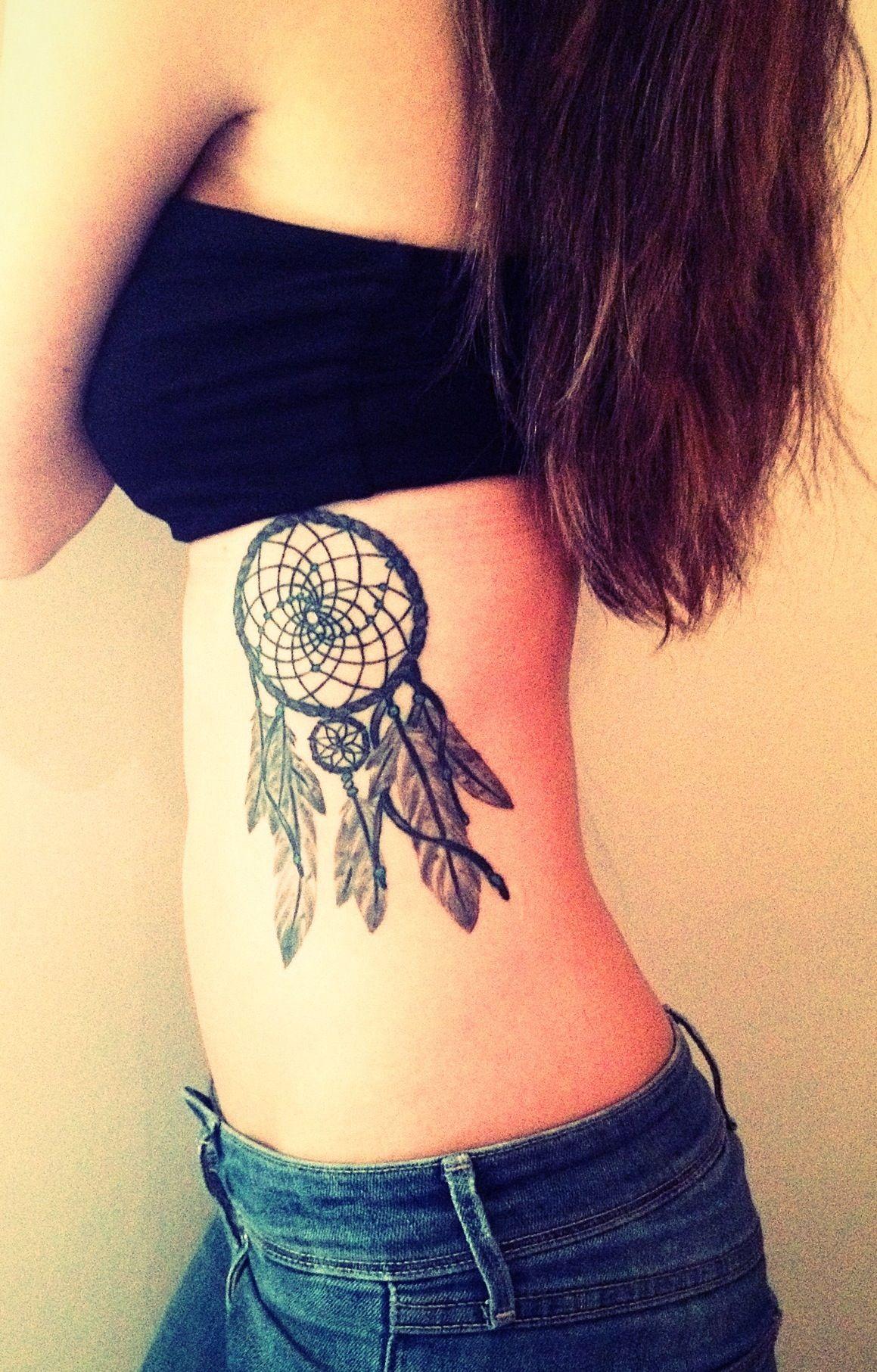 Dream Catcher Tattoo On Rib Cage 40 Rib Tattoos for Girls Design Ideas Tattoo Dreamcatcher 6