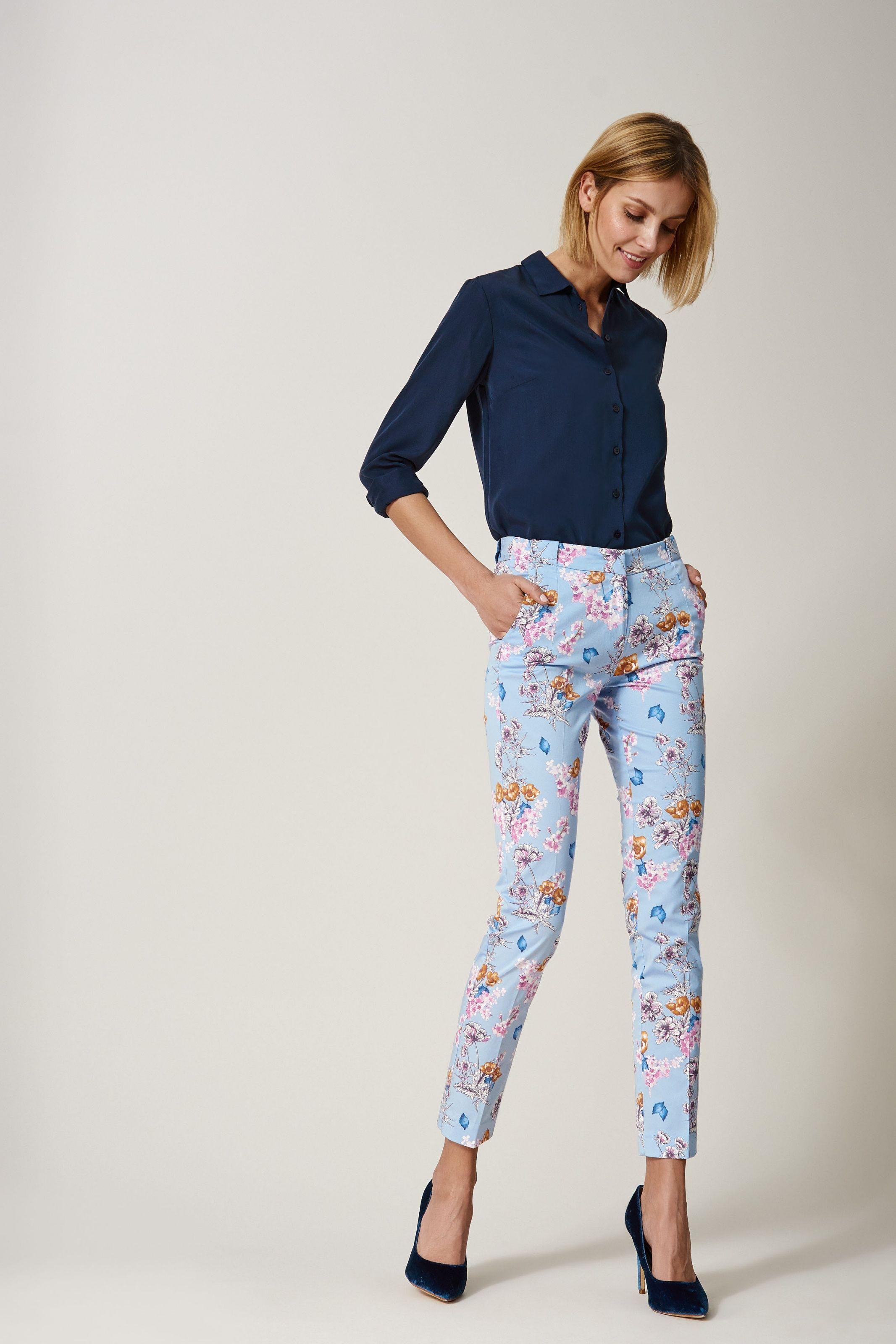 Eleganckie Spodnie W Kwiaty Pajama Pants Capri Pants Fashion