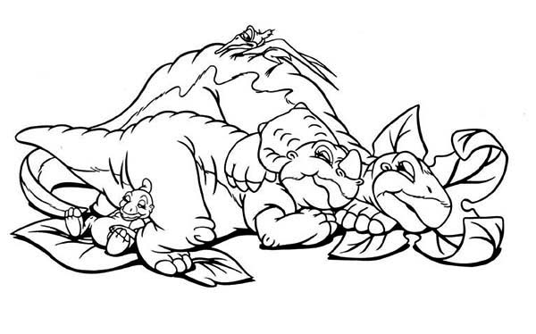 Ducky Little Foor Cera And Petrie Sleeping Land Before Time Coloring Page Kids Play Color In 2020 Cartoon Coloring Pages Coloring Pages Disney Coloring Pages