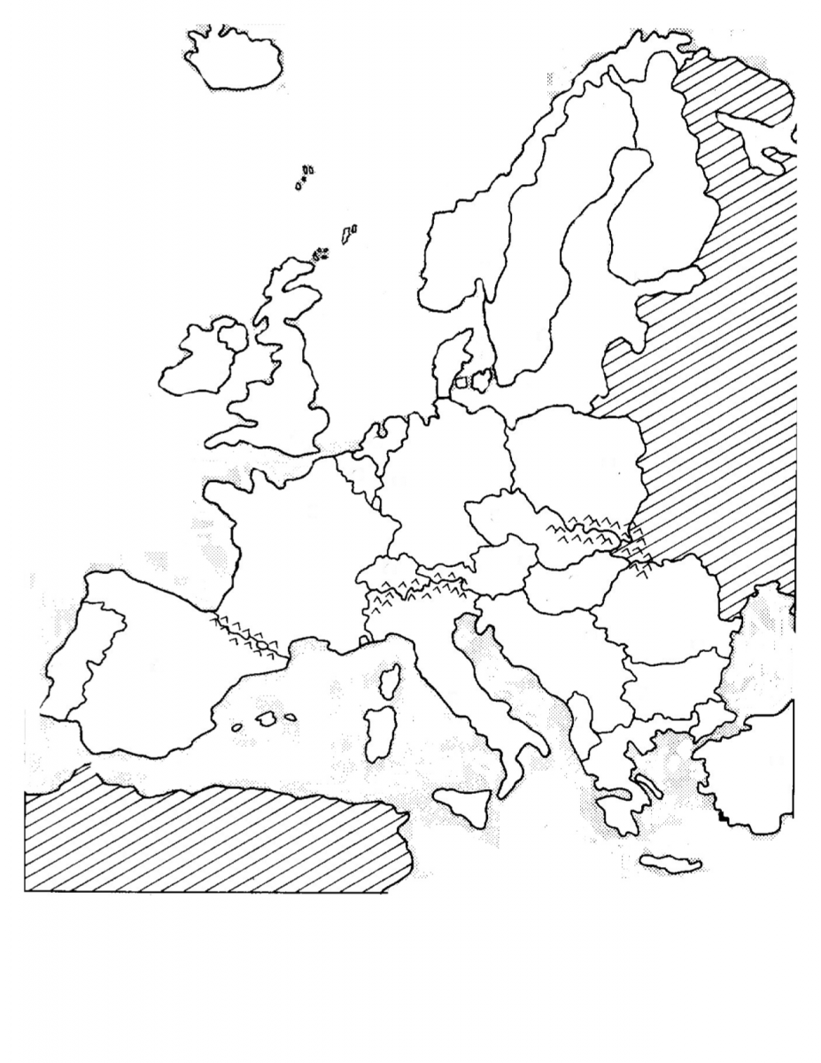 Western Europe Blank Political Map Western Europe Map Mr - Europe blank map