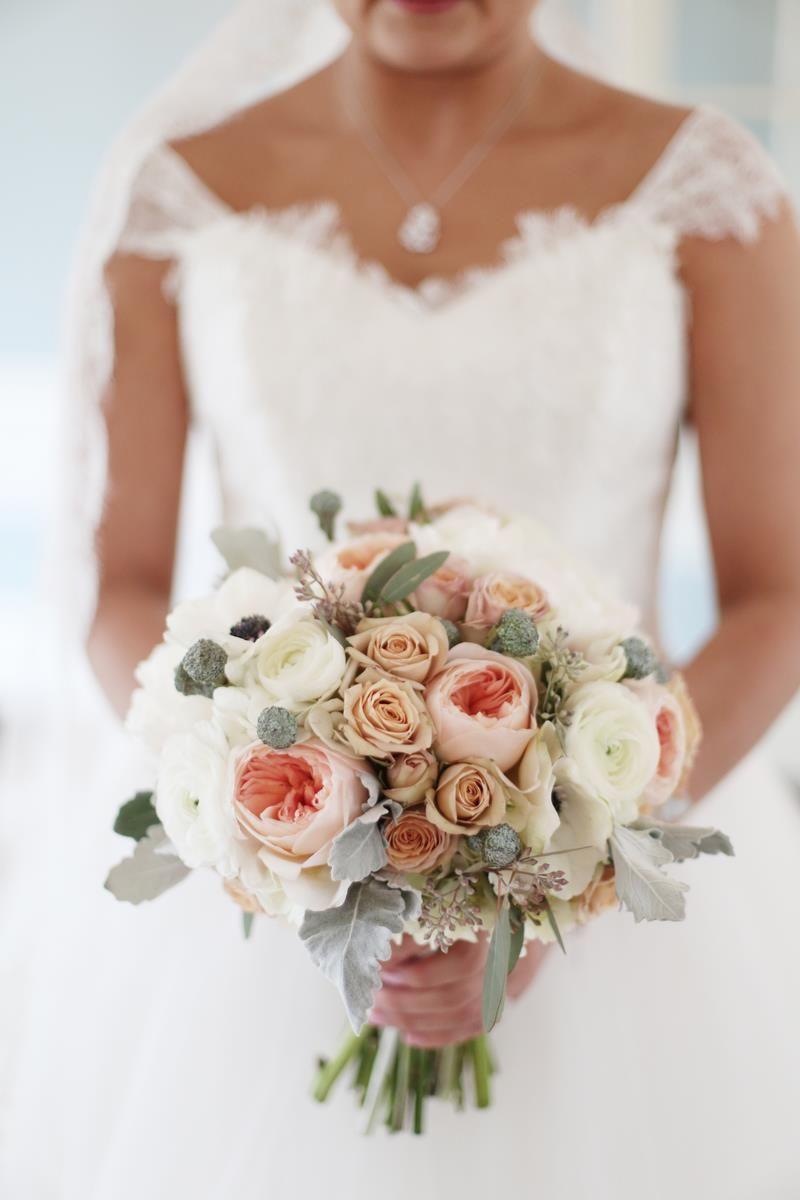 Peach Anemone Bouquet Bridal Bouquet Peonies Flower Bouquet Wedding Coral Wedding Flowers