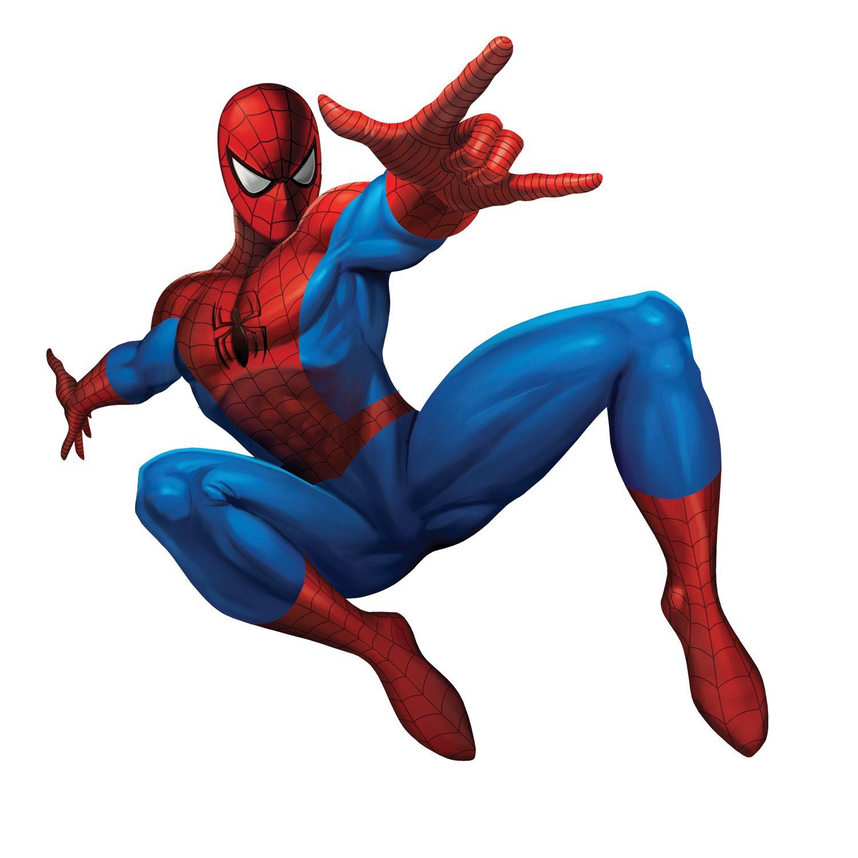 Человек-паук на белом фоне | Человек-паук, Детские ...