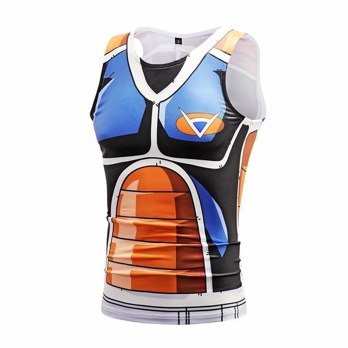 4b8ea86df0e757 Dragon Ball Z Burter Ginyu Force Uniform Compression Tank Top  dbz   dragonball  anime  tanktops