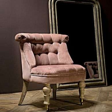 Love This Old Pink Color Distressed Antique Chairs - Ancien fauteuil crapaud