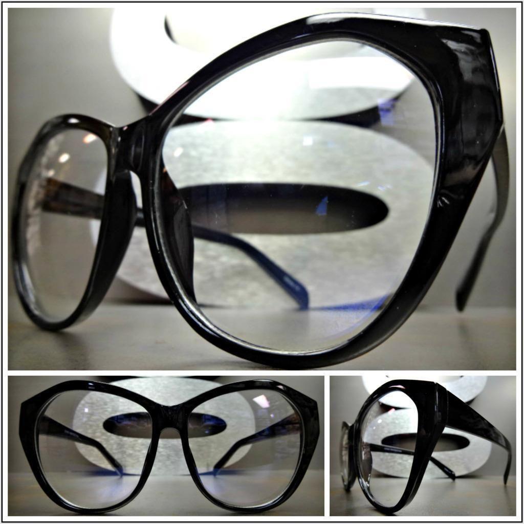 6ed5d9b03d3 Men Women Classic Vintage Retro Style Clear Lens Eye Glasses Black Fashion  Frame