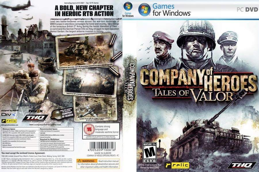 Company Of Heroes Tales Of Valor Genre Action Rts Strategy Dvd 2 Dvd Price Rp 10 000 Minimum System Requiremen Best Seller Malang Compa